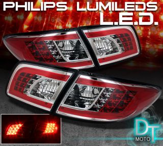 03 08 MAZDA 6 MAZDA6 PHILIPS LED PERFORM CLEAR TAIL LIGHTS LAMPS LEFT