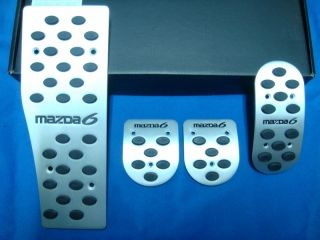 Mazda 6 Mazda6 Manual Transmission Aluminum Sport Pedals Pad Covers