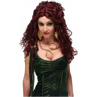 Medusa Costume Wig Womens Dark Auburn Red Dreadlocks Greek Mythology
