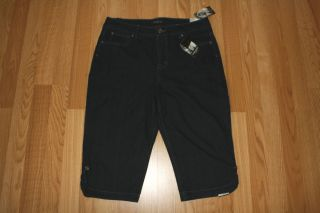 NINE WEST JEANS Dark Wash Melania Jean Denim Capris Shorts Size 8 28