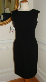 Calvin Klein Classic Audrey Hepburn Black Cocktail Dress Size 2 128 00