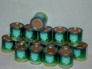 LOT OF 16) 1/2 PINTS MCCLOSKEY HEIRLOOM INTERIOR WOOD STAIN RED OAK
