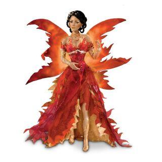 Cindy McClure Ashton Drake Porcelain Fire Fairy Doll
