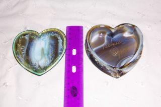 Boyd Glass Slag Vintage Covered Heart Jewelry Box Signed by Bernard
