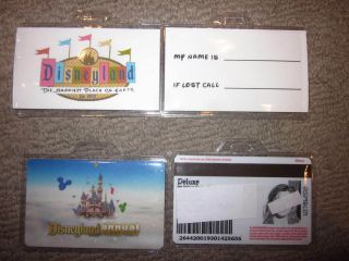 Disneyland Disney World Annual Pass Park Hopper Ticket holder lanyard