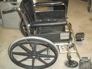 Medline Excel 2000 Wheelchair Black Upholstery
