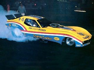 DRAG STRIP DEMON TOM MONGOOSE McEWEN CHEVY NHRA DRAG RACING FUNNY CAR
