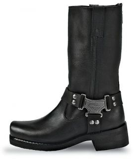 Mens Milwaukee Leather Motorcycle Boots Classic Harness
