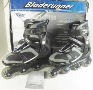 Bladerunner Pro 78 Black Blue Inline Mens Rollerblades 12 M