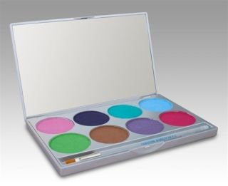 Mehron Paradise Makeup AQ Face Paint Palette Pastel 8 Colors