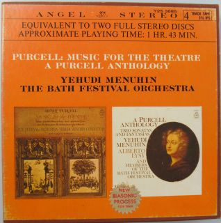 for The Theatre Anthology Yehudi Menuhin Reel to Reel Tape 3 4