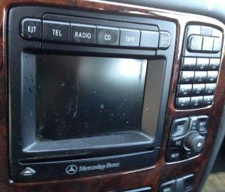 2000 Mercedes Benz s Class CL Class Radio Nav CD Changer Receiver Unit