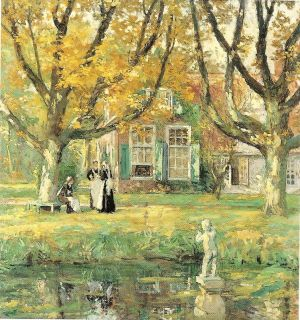 In My Garden by Gari Melchers Unused Postcard