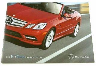 2012 12 Mercedes Benz E Class Brochure E350 E550 Coupe Cabriolet