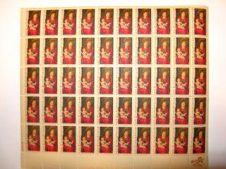 Christmas Memling Gallery of Art 5 Cent Postage Stamp Full Sheet Scott