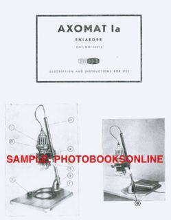 Meopta Axomat IA Enlarger Instruction Manual