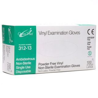 Vinyl Powder Free Medical Exam Gloves Large 100 Box