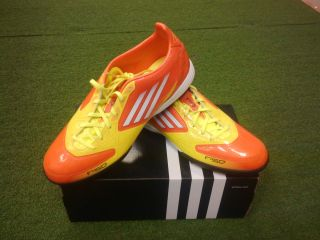 Adidas F10 TRX TF Turf Shoes Orange Yellow Soccer Authentic New Messi