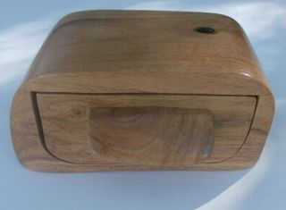 Handcrafted Rustic Mesquite Wood Log Drawer Box Gift