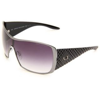 ARMANI EXCHANGE AX008 LOGO Mens Women Sunglasses SHIELD Gunmetal Black
