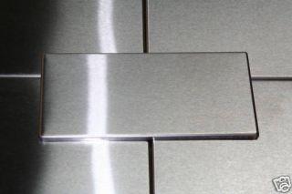25 8x4 Stainless Steel Metal Kitchen Backsplash Tiles