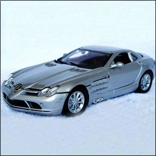 New 1 24 Mercedes Benz SLR McLaren Alloy Diecast Model Car Silver
