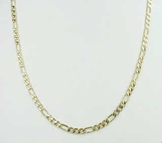 18K Gold GF Stuning Mens Figaro Chain Necklace 24x 3mm