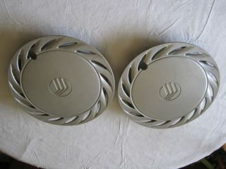 Mercury Tracer Wheel Cover Hub Caps 92 93 94 14 Silver Original