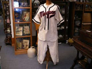 Vtg Antique Baseball Uniform Mequon Wi