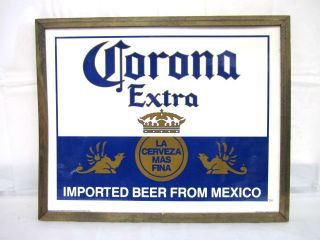 Vtg Corona Extra Imported Beer Form Mexico Beer Bar Sign