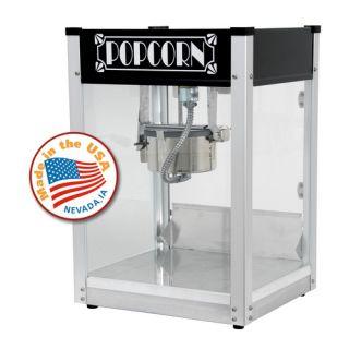Gatsby Popcorn Machine Black Concession Snack Bar Merchandiser 1104520