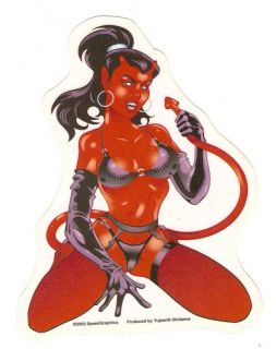 Sexy Girl Devil Pinup Sticker Decal