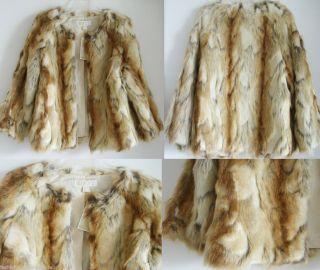 NEW MICHAEL KORS women red fox Fur Coat jacket S 2 designer bolero