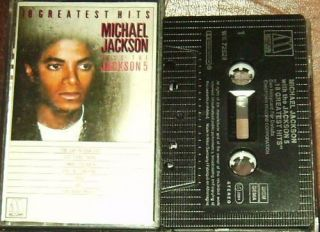 Michael Jackson 5 18 Greatest Hits Cassette Motown