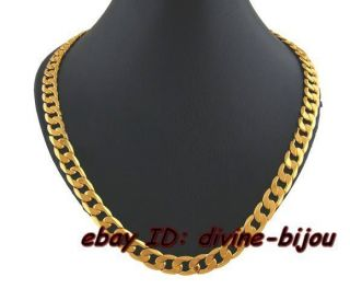 Mens Gold Plated Cuban Link Necklace 20X7MM