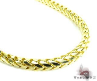 Mens Gold Chain 40inches 5mm Franco Necklace Link 10K Yellow 207 10