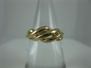 Estate Michael Anthony 14k Yellow Gold Ladies Woven Band Ring