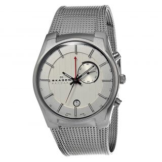 Skagen Silver Tone Stainless Steel Mesh Mens Watch 853XLSSC