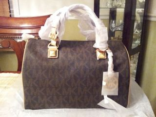 Brand New Michael Kors Grayson Brown Large Satchel 30T1MGYS3B