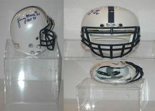 Lenny Moore auto Penn State Mini Authentic Bike Helmet w Case COA