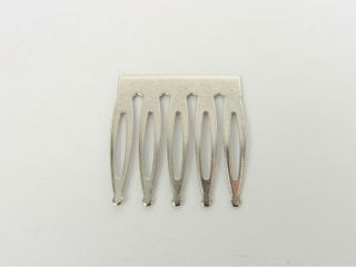 23 x 25mm 5 Tooth Metal Hair Combs Silver Tone 10pcs