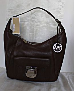 Michael Kors  Riley Large TZ Leather Shoulder Bag Mocha
