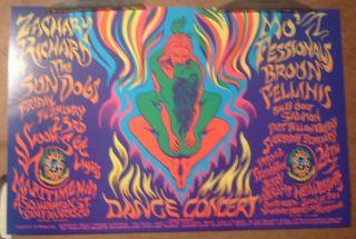 Zachary Richards Family Dog original 1996 concert poster rock, Mark