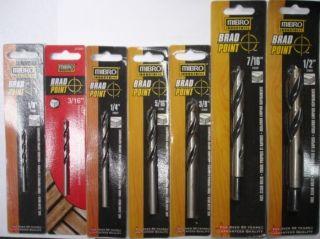 Mibro 7pc Brad Point Drill Bits 1 8 to 1 2