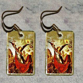 Saint St Michael Archangel Arch Angel Defeats Demon Altered Art Charm