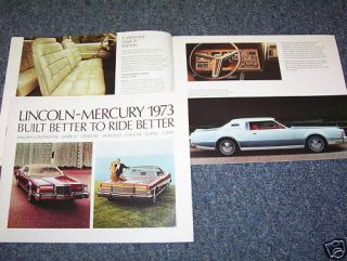 1973 Lincoln Mercury Capri 32 P Brochure Catalog