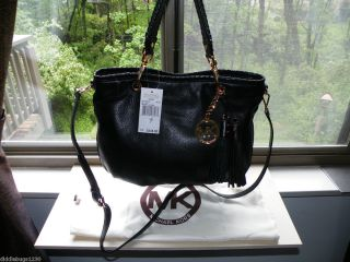 Michael Kors Bennet Black Leather Crossbody Shoulder Retail $348