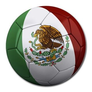 Mexico Mexican Soccer Ball Football Mouse Pad Mousepad