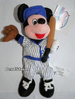 Mickey Mouse Baseball Cap Bean Bag Plush Doll Sports Bat