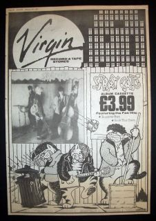 Stray Cats 1981 Poster Type Advert Promo Ad